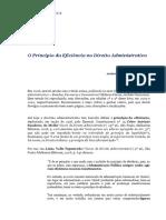 Artigo-O Princípio Da Eficiência No Direito Administrativo - Antônio C. Cintra Do Amaral