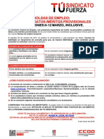 2383121-Comunicado CCOO Bolsas Empelo Plazo Reclamacion Meritos Provisionales 2018-03-06