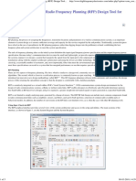 Leveraging the Use of a Radio Frequency Planning (RFP) Design Tool for Modern System Design