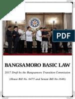 The Draft Bangsamoro Basic Law (BBL) 2017