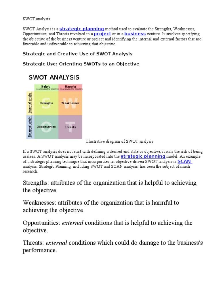 swot analysis theory swot analysis marketing