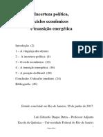 Incerteza Política, Ciclos e Energia (VF)