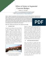 Study on Effect of Joints in Segmental Concrete Bridges