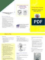 Consumer Guide Electric Fan