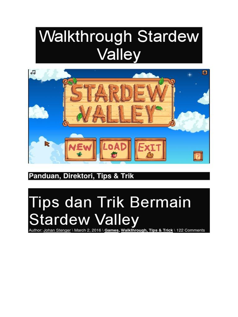Walkthrough Stardew Valley