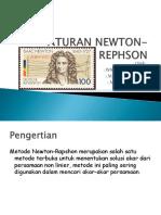 Presentasi Metode Newton-rephson