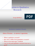 Lecture 5 Introduction to Qualitative Research