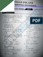 BITSAT 2005 Solved Question Paper