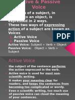 Active & Passive Voice Slide