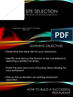 Ppt Report Site Selection