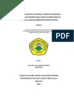 Pengaruh Motivasi Kerja Terhadap Kinerja Pegawai Di Sekretariat Dewan Perwakilan Rakyat Daerah (d - Copy