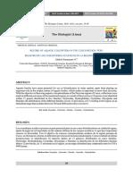 Registro de los coleopteros acuaticos en la región Cusco, Perú