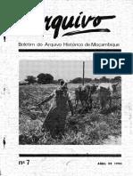 Boletim do Arquivo Histórico de Moçambique Nº7 - Abril de 1990