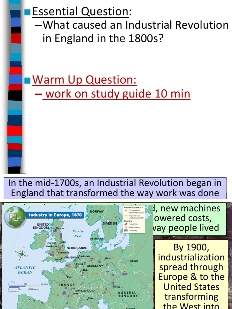 why industrial revolution began in england