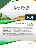 Kelompok 2 - Keanekaragaman Alfa-beta-gamma