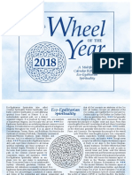 2018 All religion calendar the wheel of the year