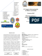 Programa IV Congreso Internacional de la Música Ayacuchana