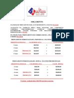 Orçamento Treinamento Personalizado Jean 2013