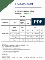 Table Des Tarifs Steg