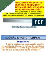 60 ACÓRDÃOS DE 2017- ELO CONSULTORIA_05 a 07-3-2018_apresentação