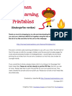 Firefighter Printables Kindergarten