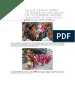 El Carnaval Ecuatoriano Es Muy Cultural y Se Celebra Con Agua