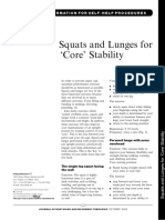 Squats and Lunges Core Stability