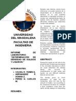 Informe de Laboratorio de Quimica General