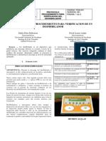 Protocolo de Procedemiento Para Verificacion de Un Desfibrilador