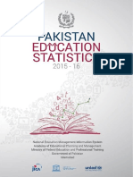Pakistan Education Statistics 2015-16