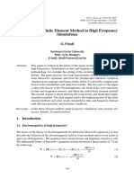 Application of Finite Element Method (FEM) in High Frequency Simulations