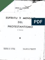 Espíritu y Mensaje Del Protestantismo
