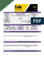 Teache's Data Sheet