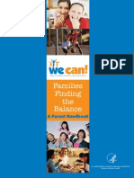 Families Finding the Balance - A Parent Handbook