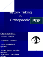 31699186 History Taking in Orthopaedics