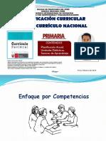 Planificación Curricular con el Currículo Nacional. ROQUE Willean (2018).