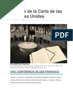 Antecedentes Carta de Naciones Unidas