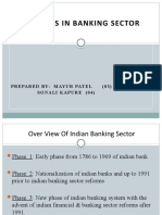 Reforms in Banking Sectors