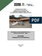 Resumen Tdr Super Obras Institucion Educativa Inicial
