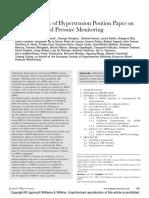 ESH Position Paper ABPM