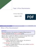 Topic1 Price Discrinimation
