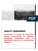 REPORT ON QUALITATIVE CHINESE PARTICIPATION IN EUROPEAN FRAMEWORK PROGRAMMES (PART 2)