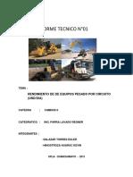 Informe Tecnico Rendimiento de Maquinas 2