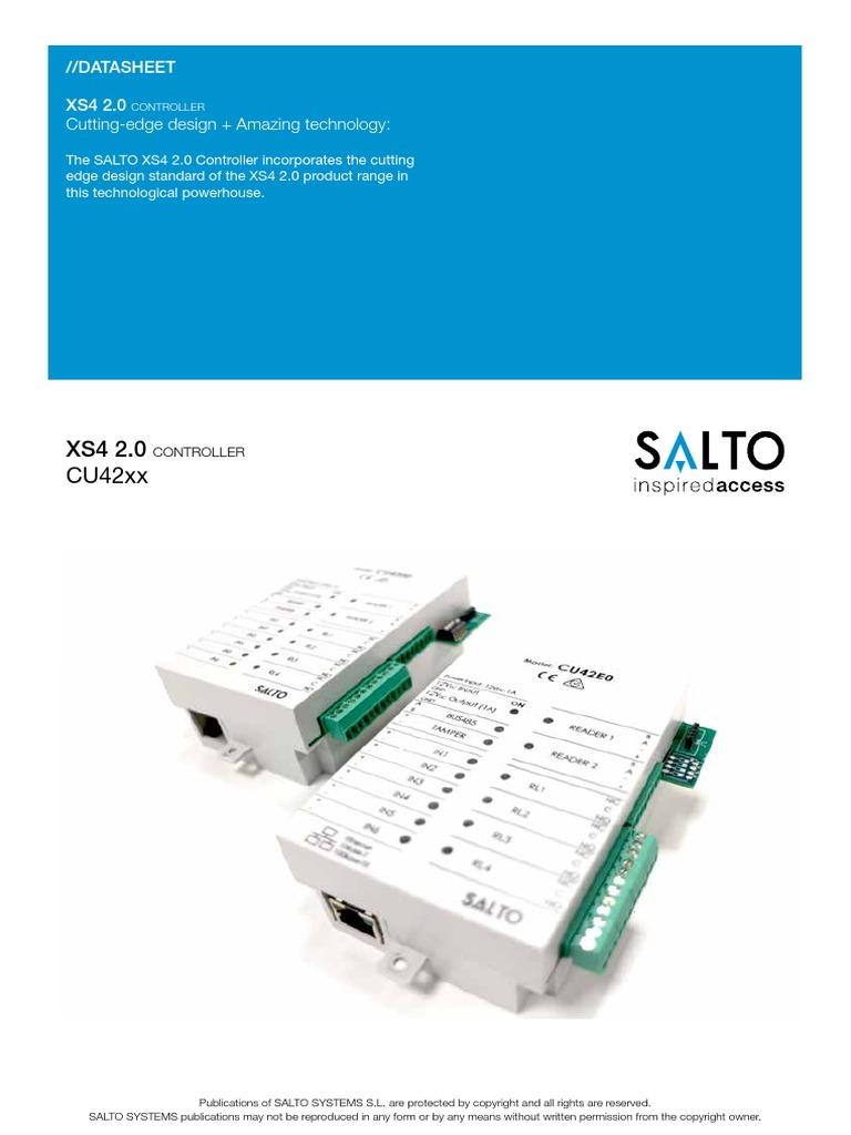 SALTO- CU42xx Datasheet EN   Access Control   Computer Network