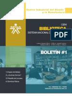 Bolet n 001 Biblioteca CIDM