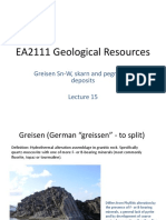 Geol Resources Lecture 15 (Greisen Sn-W and Pegmatites)