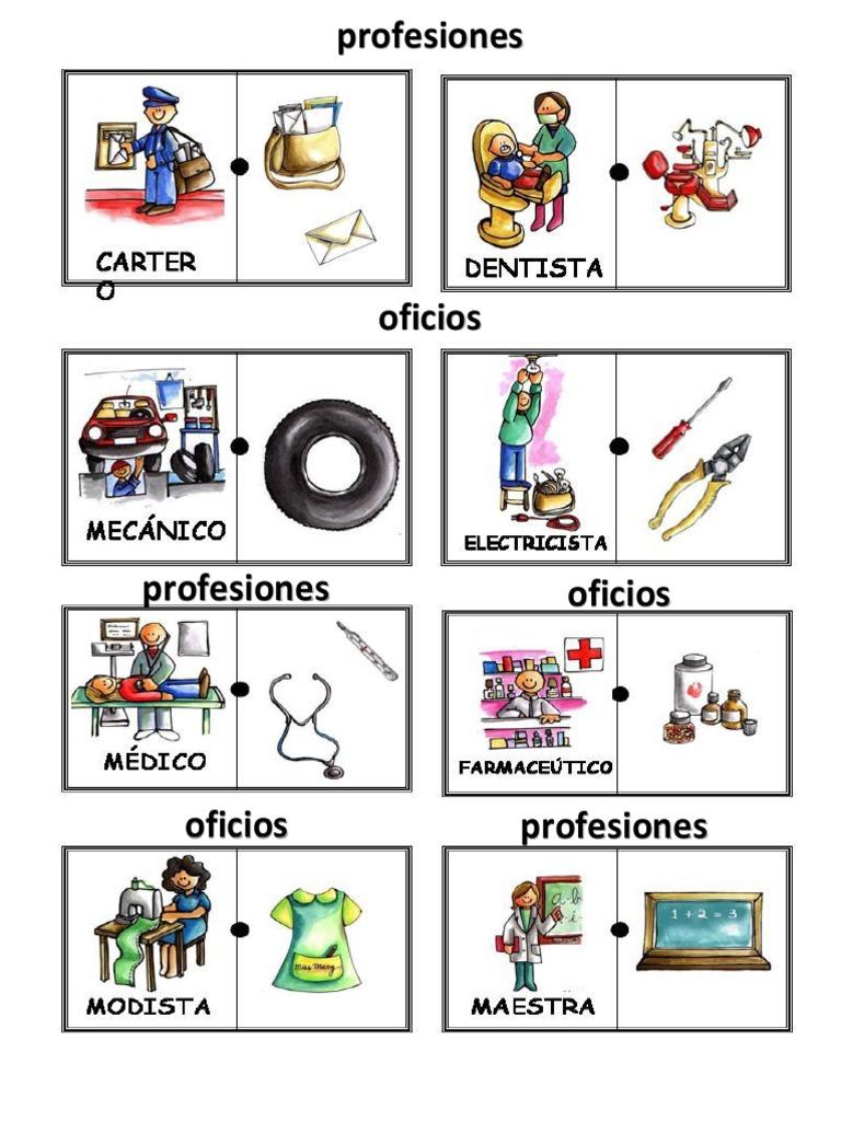 Profesiones Y Oficios Y Sus Herramientas Dibujos Dibujos De