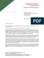 Lettre DSF à l'attention de Jean-Claude Juncker - 08.03.2018