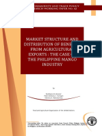 Market Structure and Distribution of Benefits from Agricultural Exports