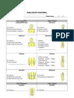 Ficha de Avaliação Postural Adultos e Crianças Seafis